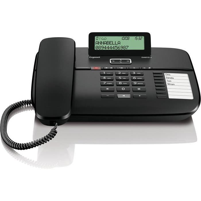 TELEPHONE FIXE et DA810A Teacuteleacutephones Filaire Avec Reacutepondeur Ecran Produit dimport Europe129