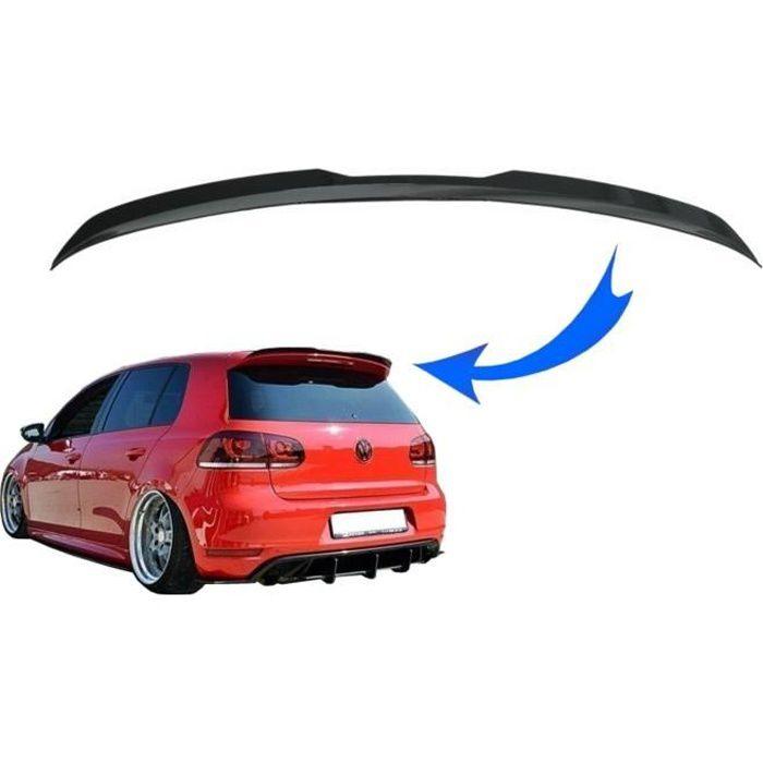 Becquet toit Add On Aile pour VW Golf 6 GTI R MK6 Hayon 2008-2012 Noir brillant