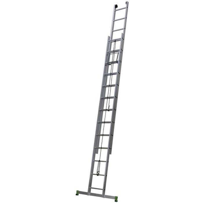 CENTAURE Échelle coulissante à corde 2 plans CLC - 3,7 m / 5,95 m - 2 x 12 barreaux