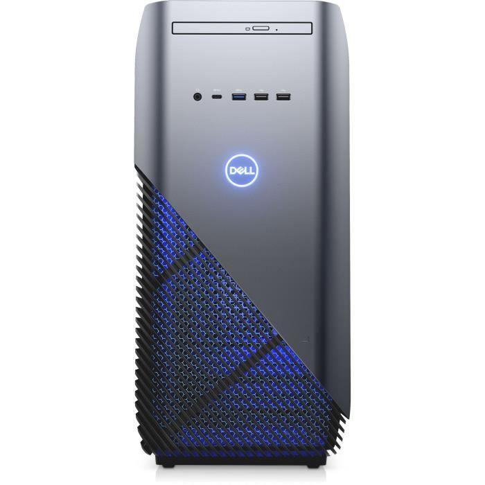 Unité Centrale Gamer - DELL Inspiron Desktop 5680 - Core i3 8100 - RAM 8 Go - 1To + 128Go SSD - NVIDIA GTX 1060 6Go Windows 10