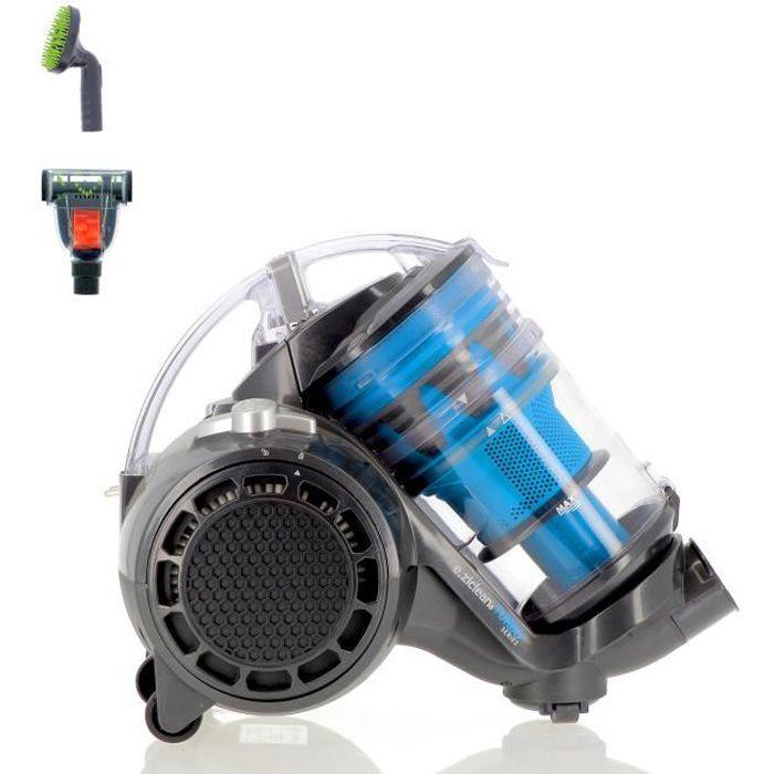 EZICLEAN® Turbo Eco-pets Aspirateur sans sac - Multi-cyclonique - Spécial animaux de compagnie - AAA