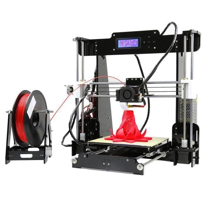 Anet A8 3D Imprimante Diy Kit Auto assemblage Mk8 Extrudeuse Buse Acrylique 2004Lcd Carte Sd 8 Go Soutien multiple de filament 3D