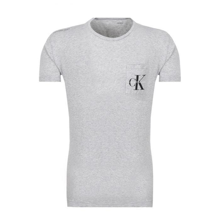 Tee Shirt Coton Avec Poche - Calvin Klein