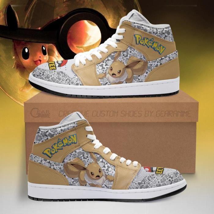 Baskets Mode Course Eevee Pokemon Chaussures de course pour Homme Femme