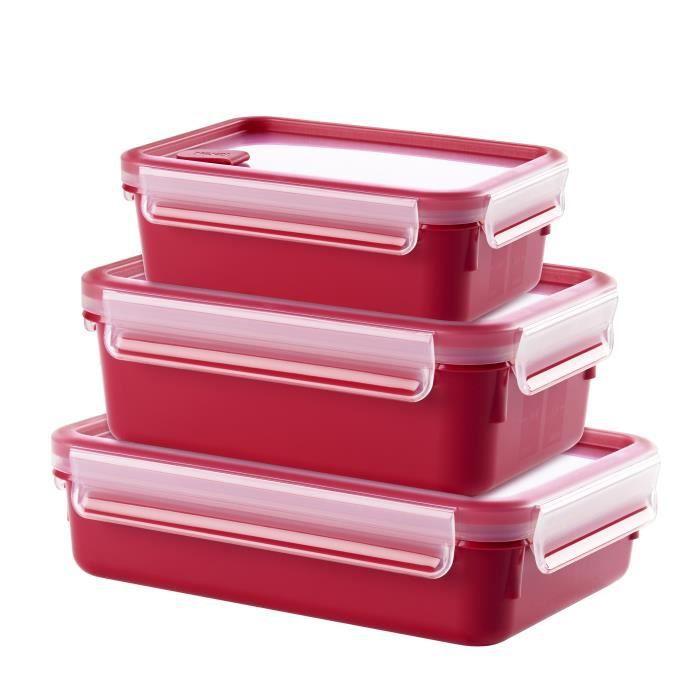 TEFAL - Set de 3 boîtes spécial micro-onde - 0.55L / 1L / 1.2L - Masterseal Micro - F1060110