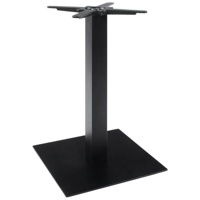 Pied de table 39 nero 39 75 en m tal peint achat vente pied de table - Castorama pied de table ...