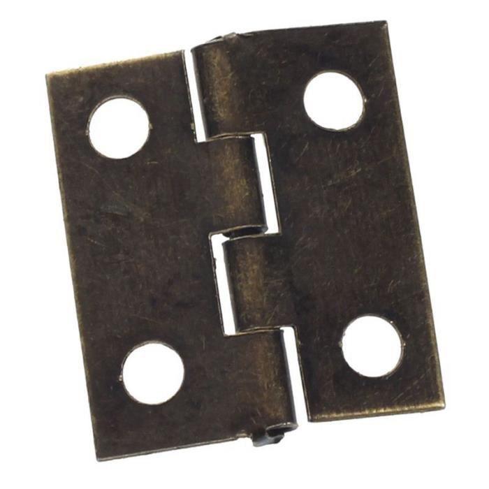 VINTAGE MICRO meubles Butt charnières Armoire Porte Tiroir Boîte à bijoux Charnières 10pcs
