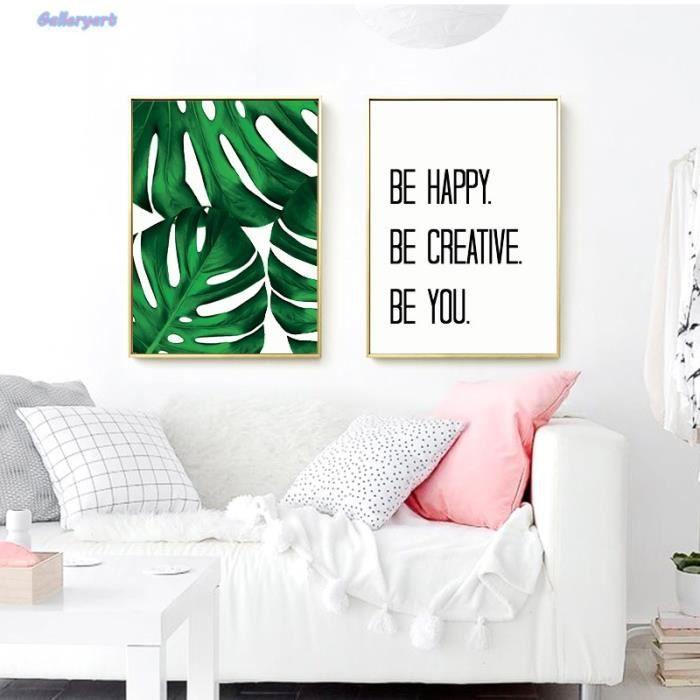 Frais Tropical Palm Quotes Affiche Scandinave Mur Art Toile Peinture Imprimer Salon Maison Décoration Sans Cadre