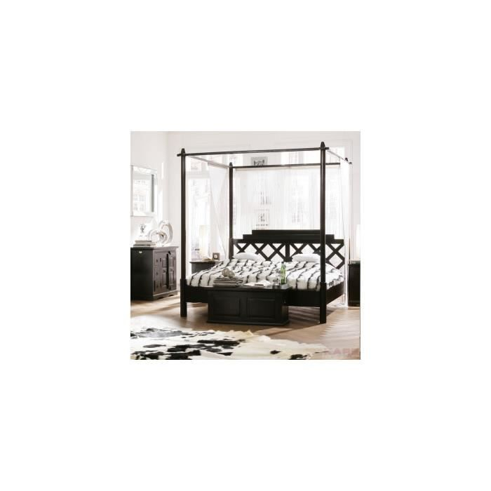 lit a baldaquin cabana 180x200 kare design achat vente structure de lit lit a baldaquin. Black Bedroom Furniture Sets. Home Design Ideas