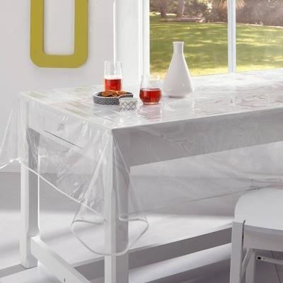 Nappe toile cir e transparente pvc 150x240 achat vente prot ge table soldes d s le 10 - Protege table transparent epais ...