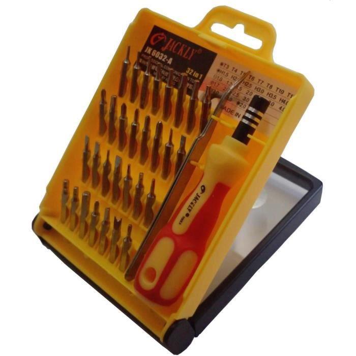 Rallonge 32 pc Reparation téléphone Console Mp3 Coffret tournevis de précision