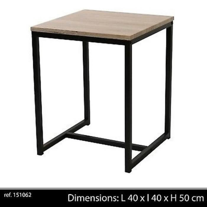 meilleures baskets d38d1 112d0 Table d appoint bois metal