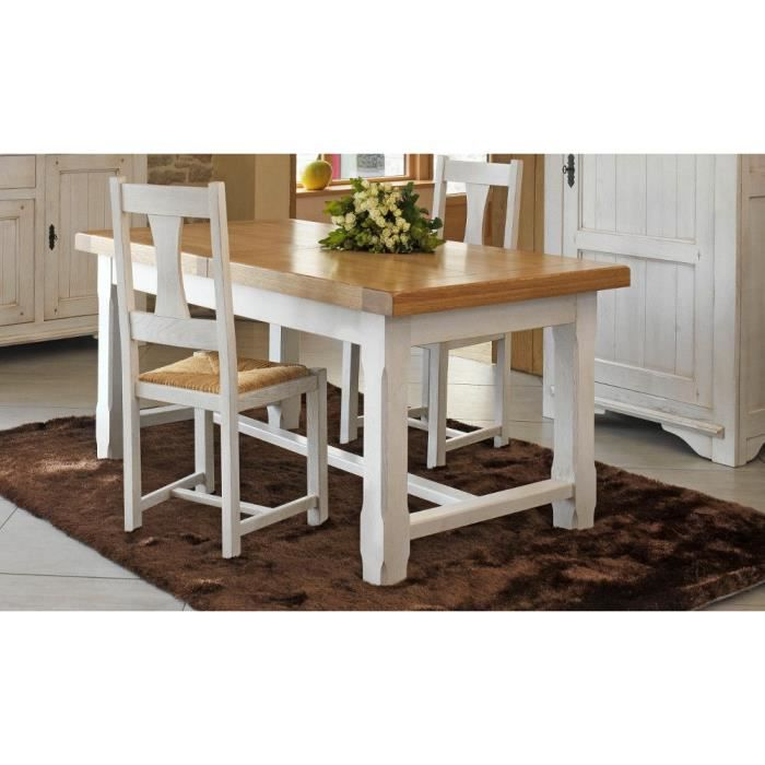 Table haute l 160 annecy ch ne blanc achat vente for Table haute a manger