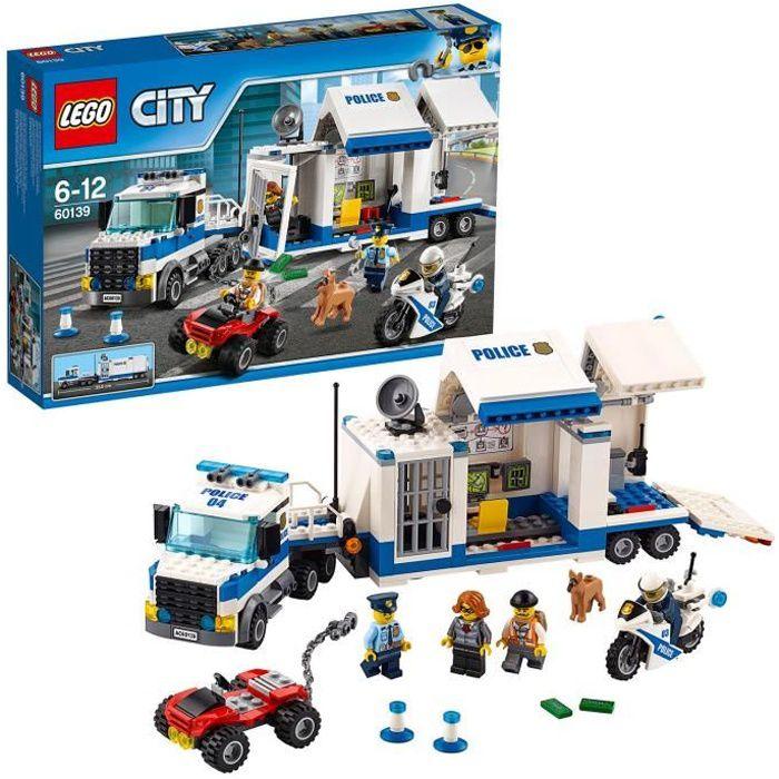 ASSEMBLAGE CONSTRUCTION LEGO® City 60139 Le Poste de Commandement mobile-J
