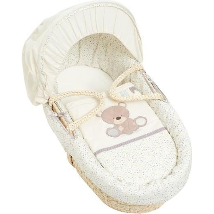 """COUFFIN ET SUPPORT MOTHERCARE Couffin """"Ourson"""" en osier"""