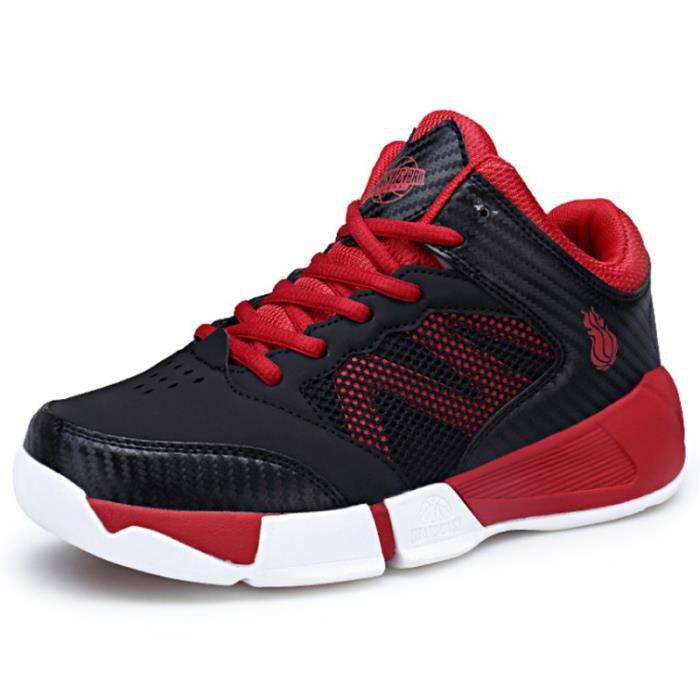 Baskets Enfants Chaussure de Course Fille Sneakers Enfant Gar/çon Chaussures Scolaire l/École pour Running Shoes Comp/étition Entra/înement Chaussure,Noir,32EU = 33CN