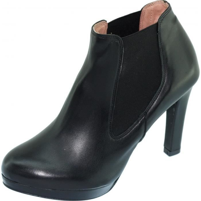 SEIN haut noir Xaira Bottine luxe taille Zoo by chaussures Femme pointures cuir petites mode plateformetalon Calzado marque c3Lq5j4RA