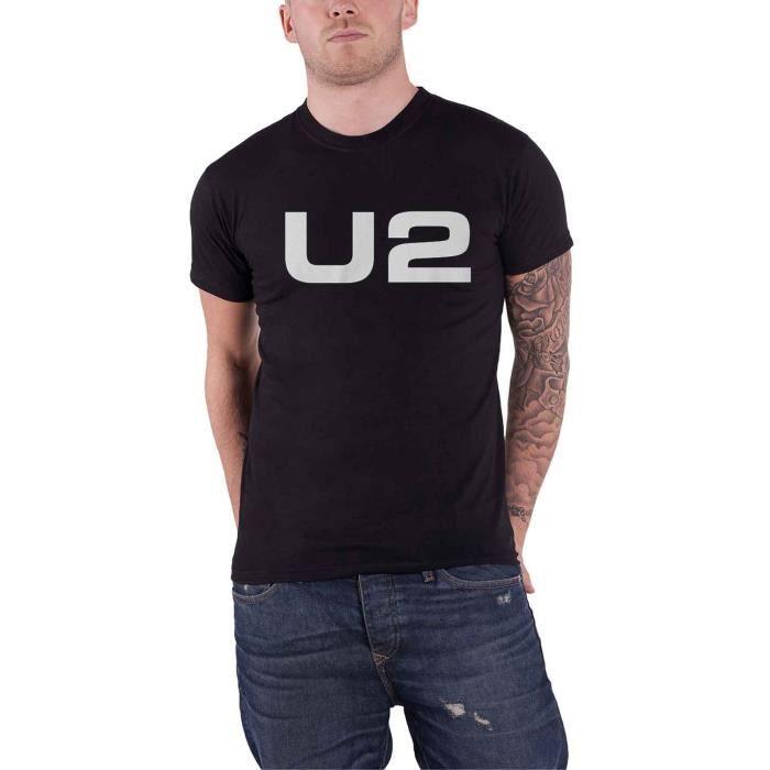 U2 T Shirt Classic Band Logo Nouveau Officiel Homme