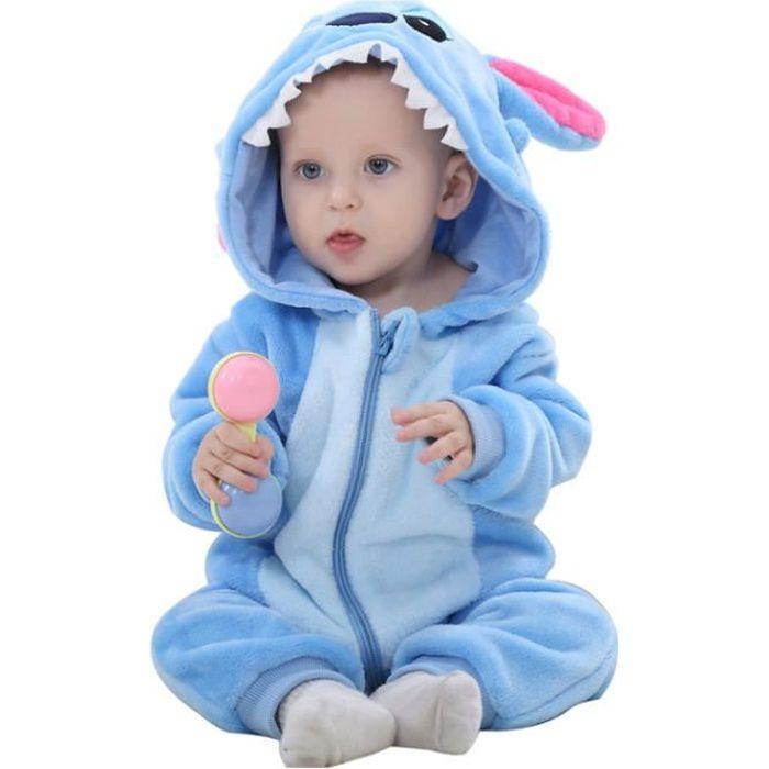 Pyjama Ensemble de Pyjama Dors Bien Enfant B/éb/é Combinaison Hiver Forme Animal D/éguisement Stitch