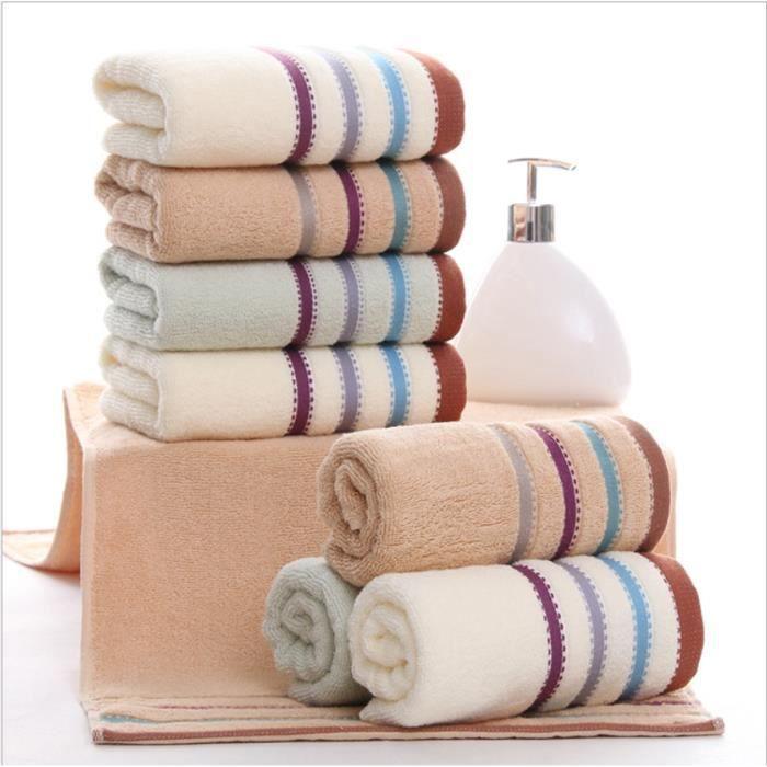 SERVIETTES DE BAIN STOEX® Lot de 6 Serviettes de bain de toilette Cot