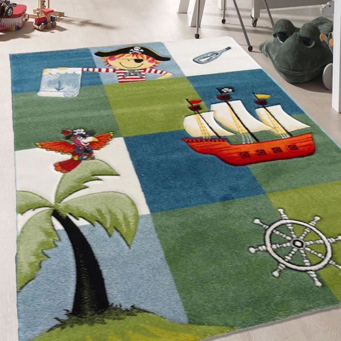 tapis chambre pirate bleu 80x150 par unamourdetapis tapis pour enfant achat vente tapis. Black Bedroom Furniture Sets. Home Design Ideas