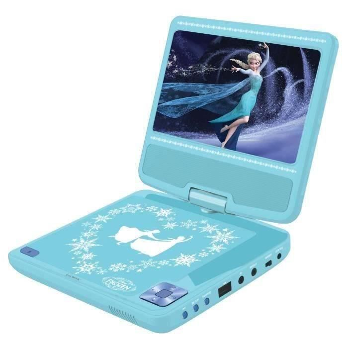 LEXIBOOK La Reine des Neiges Lecteur DVD portable pour enfant avec port USB