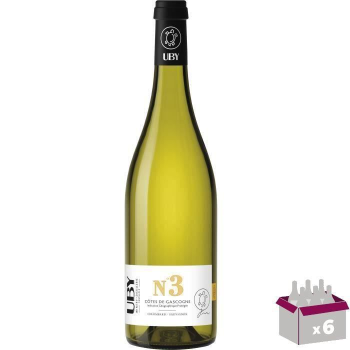 UBY N°3 Côtes de Gascogne Colombard Ugni Blanc x6