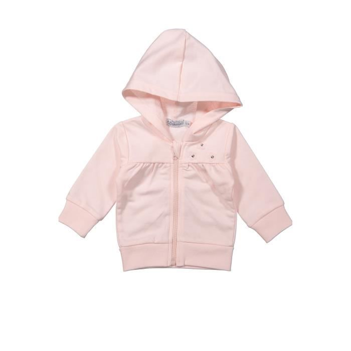 DIRKJE Veste Sweat Zippé Uni Rose Enfant Fille