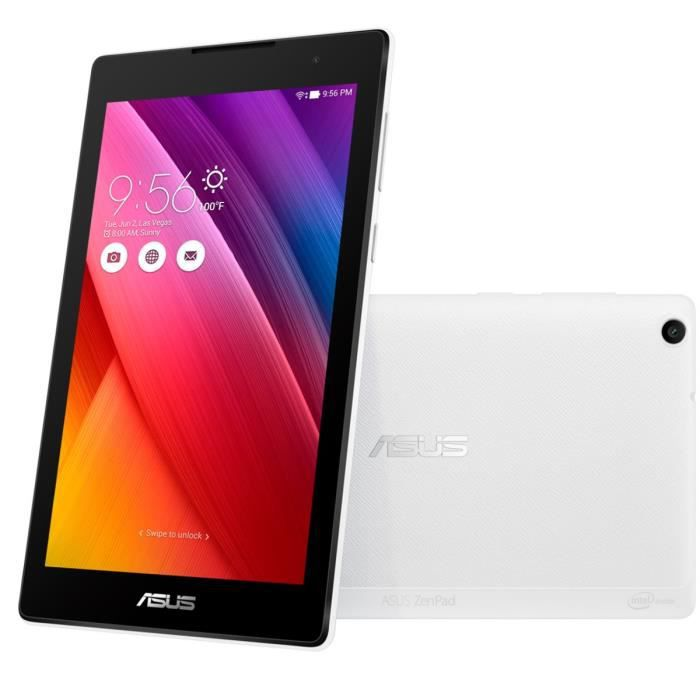 asus tablette tactile zenpad z170c z170c 1b013a blanc 7 ips 1go ram android 5 0 intel. Black Bedroom Furniture Sets. Home Design Ideas