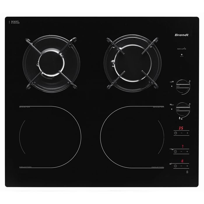 Brandt ti1013b table de cuisson achat vente plaque - Table cuisson mixte gaz induction grande largeur ...