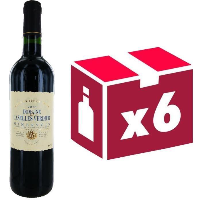 VIN ROUGE Domaine Cazelles Verdier Minervois 2013 - Vin r...