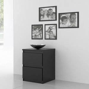 Table de chevet achat vente table de chevet pas cher for Table de chevet noire