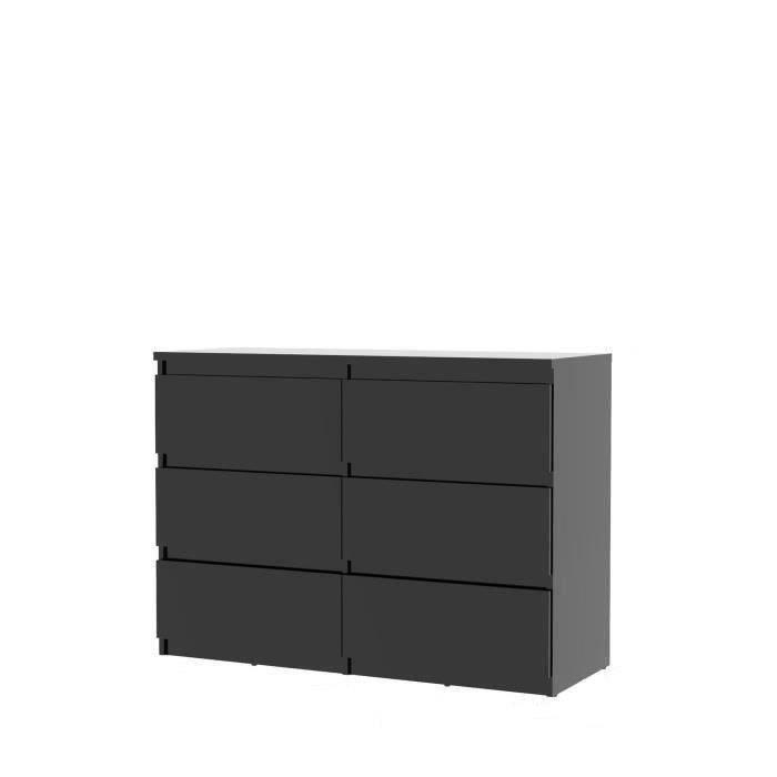 COMMODE DE CHAMBRE NATTI Commode de chambre - style contemporain noir