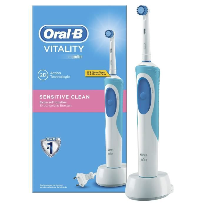 brosse dents lectrique rechargeable oral b vitality achat vente brosse a dents lec. Black Bedroom Furniture Sets. Home Design Ideas
