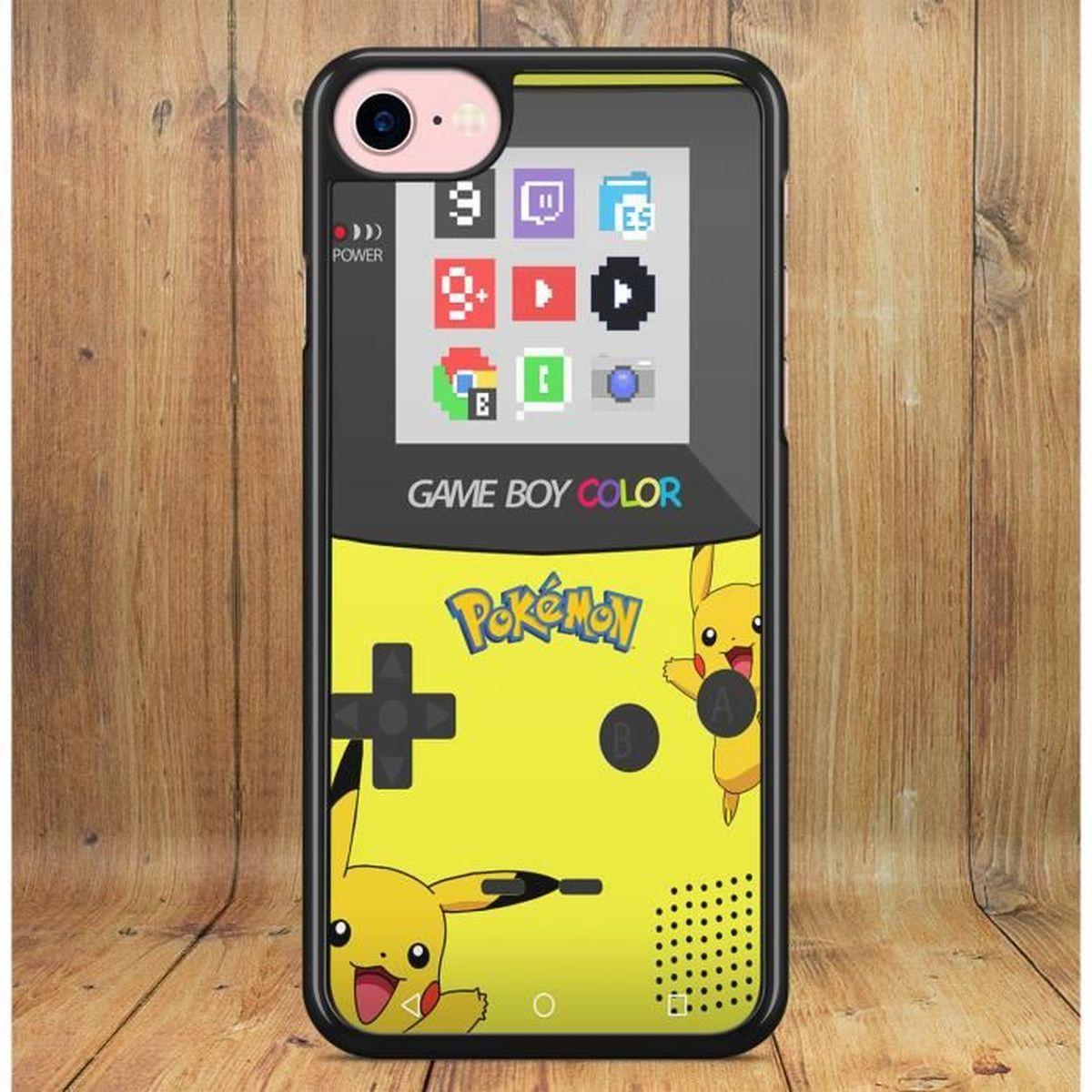 coque iphone 6 6s gameboy color pokemon pikachu go