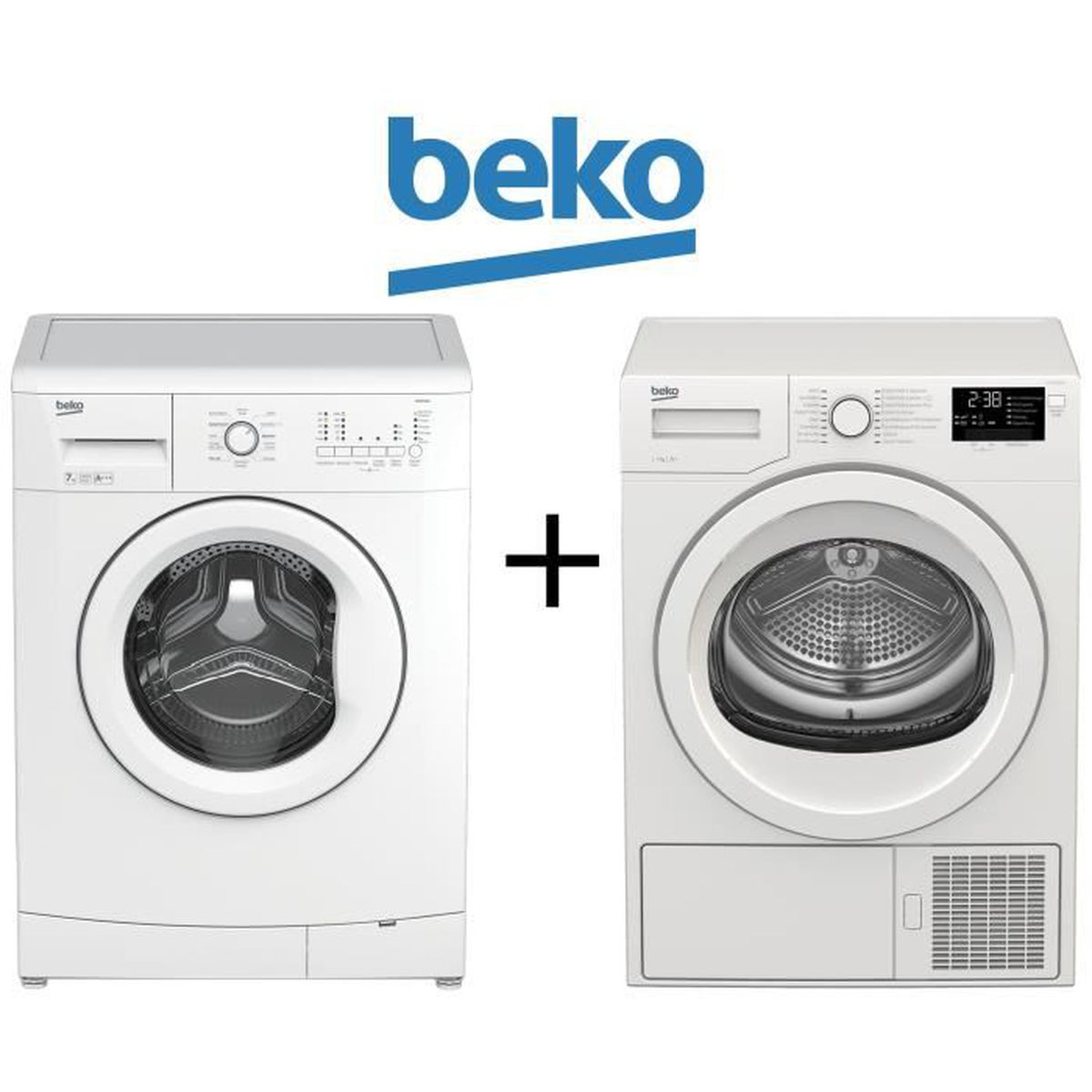 pack lavage s chage beko wcb7140 lave linge 7kg 1400 trs. Black Bedroom Furniture Sets. Home Design Ideas