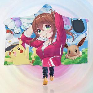COUVERTURE - PLAID 3D  Hooded Blanket for Pokemon 8101   Couverture à