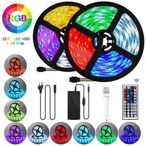 BANDE - RUBAN LED Rubans LED étanche 10M 300 LED 5050 LED RGB SMD mu
