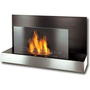 CHEMINÉE Chicago Gelkamin noir en acier inoxydable cheminée