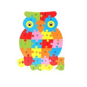 PUZZLE Puzzle de 26 lettres en bois avec animaux Ya-135