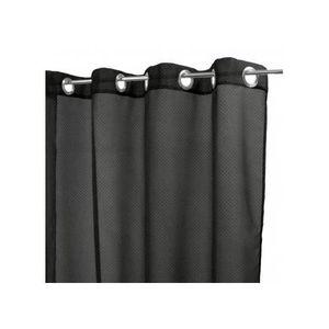 VOILAGE Paire de voilages à Pois Floqués Noir 140 x 250 cm