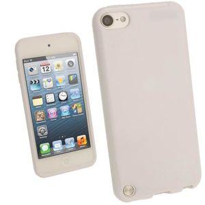 COQUE MP3-MP4 igadgitz Blanc Étui TPU Brilliant pour Apple iPod