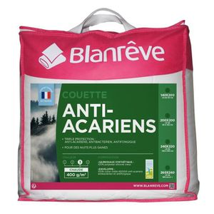 COUETTE BLANREVE Couette chaude 400gm2 Anti-Acariens 140x2