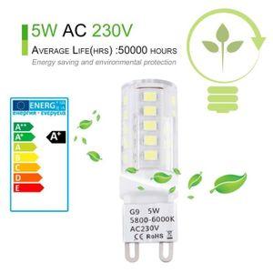 AMPOULE - LED Ampoule LED culot G9-5W blanc pur 230V 360°angle d