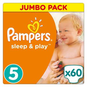 COUCHE Pampers Sleep & Play Taille 5 11-23 kg - 60 Couche