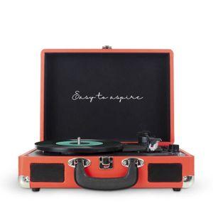 PLATINE VINYLE PRIXTON VC400 Tourne-disque Rouge avec Haut-parleu