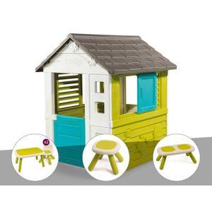 MAISONNETTE EXTÉRIEURE Cabane enfant Pretty - Smoby + Table et 2 chaises