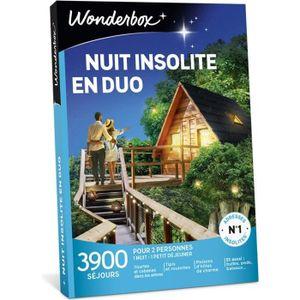 COFFRET SÉJOUR Wonderbox - Coffret cadeau duo - NUIT INSOLITE EN