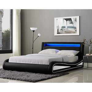 lit adulte led achat vente lit adulte led pas cher. Black Bedroom Furniture Sets. Home Design Ideas