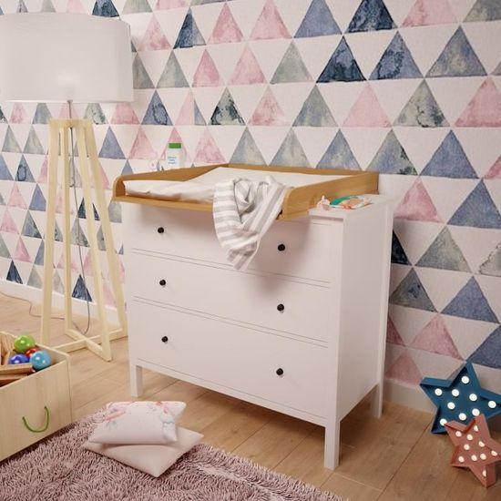 Plan à Langer Polini Kids Pour Commode Ikea Hemnes Couleur Hêtre